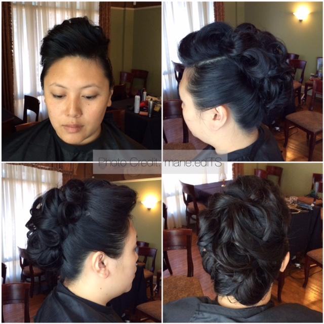 Mary and Sam - Bridal Hair
